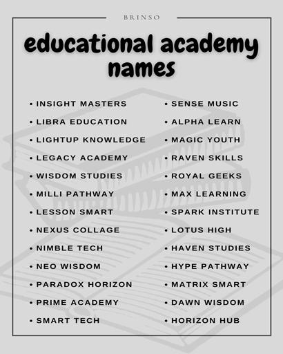 education academy names