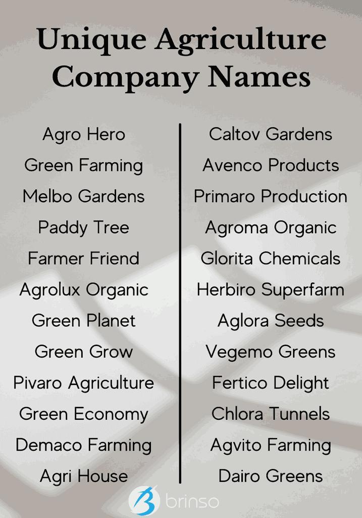 unique-agriculture-company-names